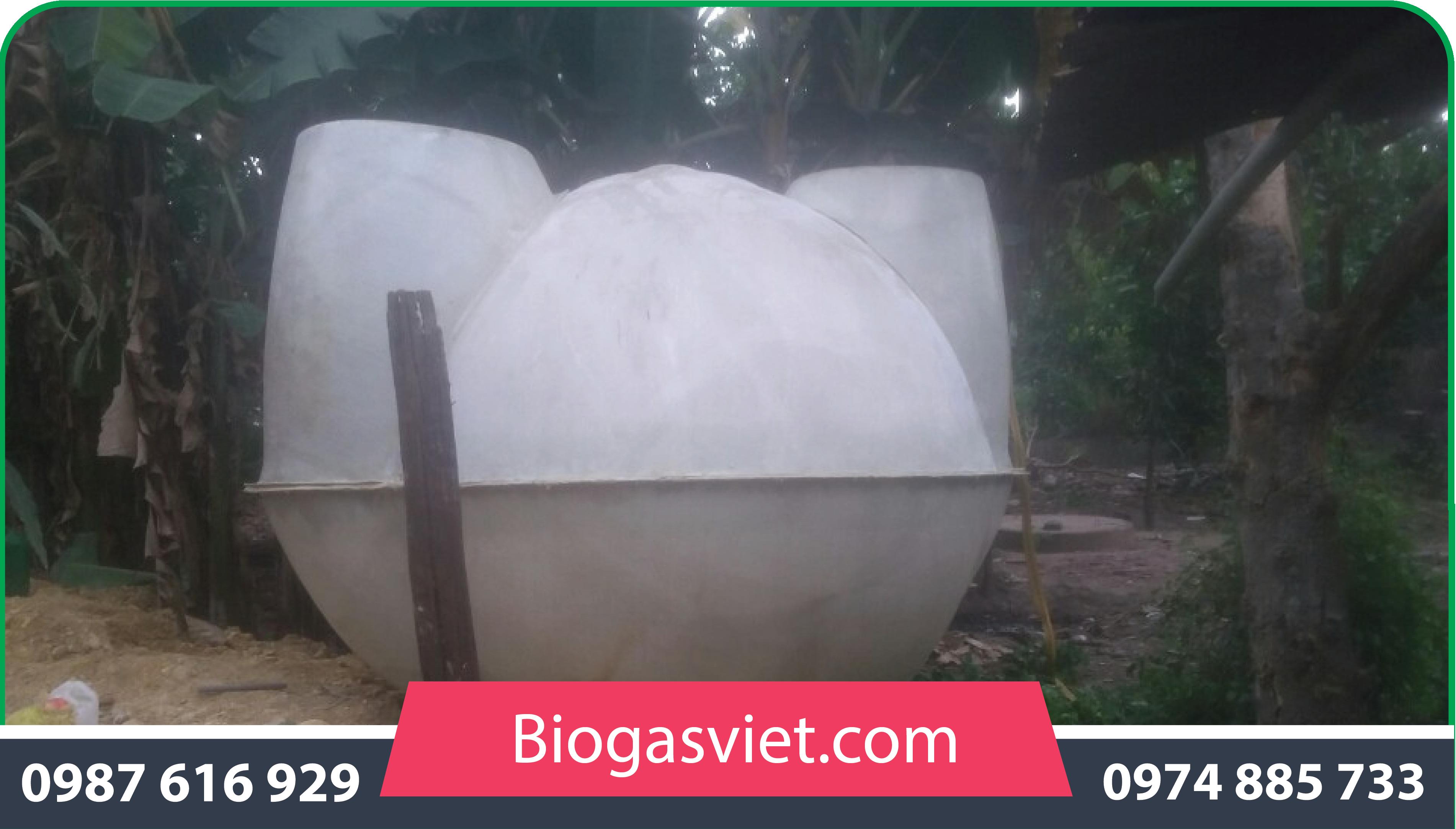 hầm ủ biogas cải tiến bvc