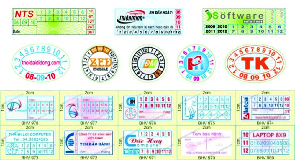 Tìm hiểu các mẫu in tem bảo hành hiện nay